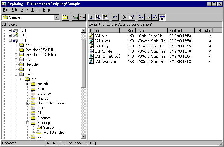 Invoking CATIA from a Scripting Language